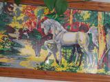 """Картина """"Лошади у реки"""""""
